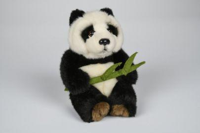 Panda mit Blatt