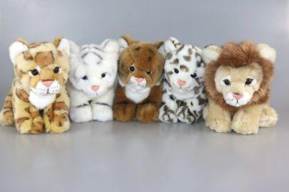 Tiger,Löwe,Leopard,Schneeleopard